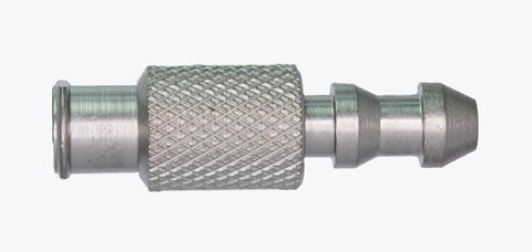 "A1241 Female Luer to .218"" OD Barb (5/16"" round body, knurled)"
